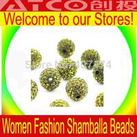 18pcs/lot,  Bling Dense Acrylic Loose Ball Beads Shambhala Beads Fit Shamballa Bracelet 10mm Dia ZG125