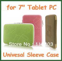 "50pcs Universal 7 inch Zipper Sleeve Case for 7"" Tablet PC Aoson M723 Freelander PD100 Ainol Venus Fire Flame Cube U18GT U25GT"