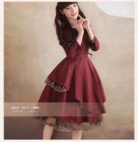 [LYNETTE'S CHINOISERIE -YHT ] Autumn Plus Size Women Clothing -Original Elegant Slim Cute Black Women Dress Sz S M L XL XXL XXXL