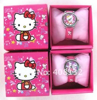Free Shipping ( 40 style ) 10 Pcs Cute Mix Children Watch With Boxes Cheap Kids Cartoon Watches Hello Kitty , Car ,ben10 Watch
