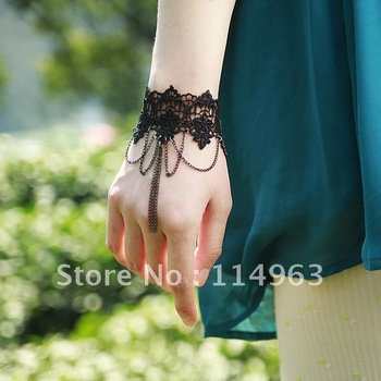 58 2012 spring black lace bracelet vintage wristband small