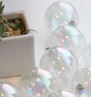 Colorful Transparent Ball Christmas Tree Decorations 4cm 5cm 12 Piece / Package