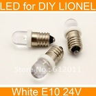 free shipping 20pcs Cold White Screw E10 24V Led Bulb Light Lamp for LIONEL 1447(China (Mainland))