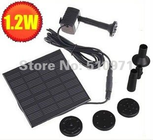 Free shipping!!! Pool Water Garden Plants Watering Kit Solar Power Fountain Soar Pump/Water Pump(China (Mainland))