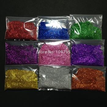 Free Shipping 100G/LOT Multicolor Nail Glitter Powder Eye Shimmer Wedding Scrapbooking Decoration