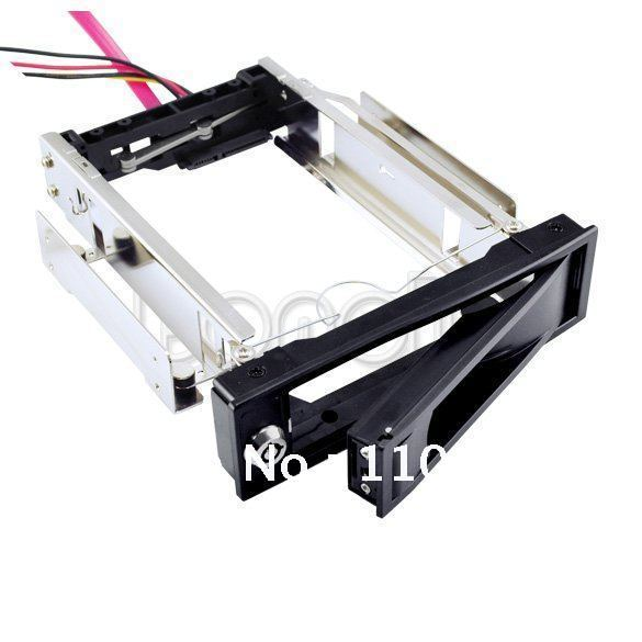 "3.5"" SATA HDD-Rom Hard Drive Disk Aulminum Mobile Rack Free Shipping 1320(China (Mainland))"