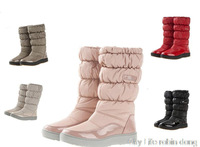 Flats Snow Boats Winter Boots New 2015 Brand Hot-Sale Waterproof Women's Shoes Japanned Plush Big Plus Size 35-42