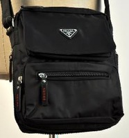 G Male Man black strap canvas shoulder small bag A11