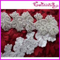 """ONE YARD crystal bridal sash applique, rhinestone trim, wedding dress sash belt applique free shipping cost-3.0"""" width"""