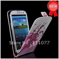 Free Shipping!  FLOWER STYLE LEATHER FLIP POUCH CASE COVER FOR SAMSUNG I9300 GALAXY S3 S 3 SIII