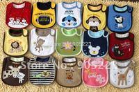 4pc    3 Layer Waterproof Baby Bib .kids bibs   bibs/waterproof towels carter bids many colors