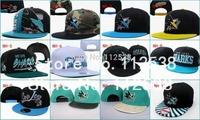 Wholesale san jose sharks snapback caps chicago blackhawks adjustable baseball hats free shipping