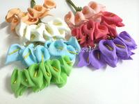 2014 NEW2.5CMX144PCS/ bag 7different colours Mulberry Calla Lily Paper Flower Bouquet/Scrapbooking Flower simulation flowers PE