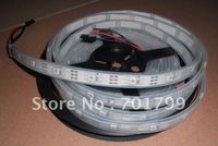 5m WS2811 LED digital strip,30leds/m with 30pcs WS2811 built-in the 5050 smd rgb led chip,waterproof in silicon tube,DC5V input