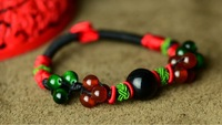 National trend bracelet accessories wholesale bracelet agate red string chinese knot hand-rope Women 0109