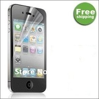 Best Selling ! LCD Hd protective film  For iPhone 4 4G 4S  double Screen ! Free shipping! 20pcs/lot