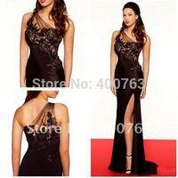 Top Sale Chiffon Appliques Elegant  One Shoulder Formal Gown
