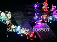 Hot sell 20 LED white Flower Battery Outdoor String Light Christmas decoration  (10pcs per lot)