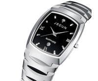 Watch tungsten steel quartz watch lovers watch waterproof spermatagonial fashion wristwatch lovers wristwatch a pair  8608G