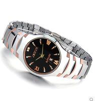 JSDUN Top Quality Tungsten Steel Strap Date Analog CZ Diamond Wrist Watch Fashion Relogio Men Casual Quartz Watch  6003G