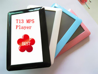 Promotion 4.3 inch T13 Touch screen mp4 mp5 player , FM radio, Game, Ebook, 8GB real memory,  DHL Free shipping 200pcs/lot