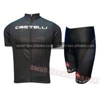 2012 Castelli  Black cycling jersey and shorts Custom