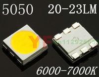 Ultra brightness 20-23LM smd 5050 led 6000-7000K white chip led diode 3.0-3.5V