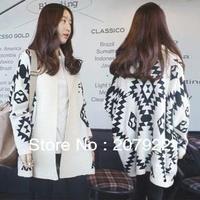 2014 new arrived  Geometric pattern cardigan sweater wool sweater  good sell