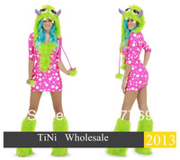Holiday sales FREE SHIPPING 1PCS SEXY   Melody Monster  Costume for lady
