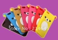 A1 2012 New Cartoon Rilakkuma Lazy Bear Soft Back Case for ipod/phone touch4, With Retail Package,free shipping 30pcs/lot