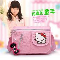 2014 New arrived Leisure bag HELLO KITTY Schoolgirl bags Cartoon messenger bag School bags for child girls High quality Satchel