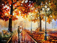 100% Hand-painted Quality Palette Knife canvas recreation  oil painting - STROLL OF INFINITY