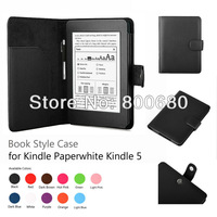 New Arrival Kindle Paperwhite case, case cover for Amazon kindle 5 with sleep function 60pcs/lot, 11 colors , DHL free shipping