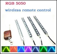 1*4 Strob 18cm/piece Flash Light 5050  20 Types Flash Modes and 7 Colors RGB Led Daytime Running Light  Wireless Remote Control
