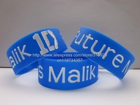 "Future Mrs Malik Wristband One Direction Band Zayn Fan Bracelet Free Shipping,50pcs/lot,silicone debossed 1"" band"
