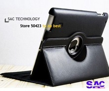 10 colors 360 Rotating Magnetic Smart Cover Leather Case Stand For New iPad2,3 with Free git touch pen(China (Mainland))