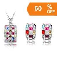 Chirstmas Hot Sale18K Gold Plated rhinestone crystal Jewelry Sets wholesale Fashion Jewelry k146