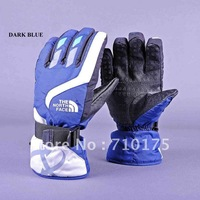 Wholesale man Winter Ski sport waterproof gloves black grey blue warm riding gloves snowboard Motorcycle gloves free shipping