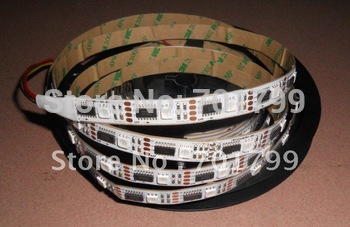 5m led digital strip,DC5V input,ws2801 IC;36pcs IC and 36pcs 5050 SMD RGB each meter;non-waterproof