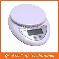 Free shipping 5000g/1g Digital Kitchen Food Electronic Scale 60pcs/lot Wholesale