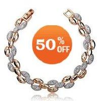 Christmas gift sale Top Quality Crystal jewelry 18K Gold Plated rhinestone Crystal Bracelet  fashion jewelry 3048