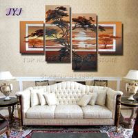 Free Shippig !!! 100% Handpainted Modern Landscape Oil Painting On Canvas,Large  Wall Art  ,Top Home Decoration JYJLV234