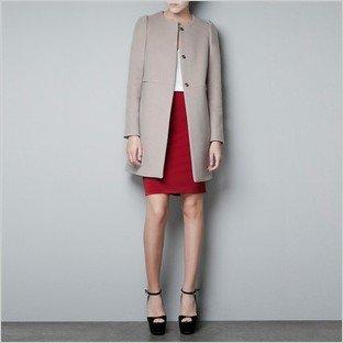2012 winter new style women Pucker cuff Wool coat slim big size mandarin collar Trench Free shipping!