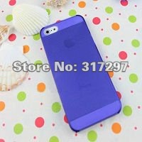 Free Shipping 100pcs/lot 8 Colors for iPhone5 5g 5th Case 0.5mm Ultra Thin Frosted Transparent Hard Back Cover Case for iPhone 5