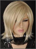 Blonde Medium Straight Punk Lolita Cosplay Wig