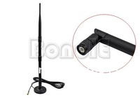 New 9 dBi 2.4 GHz 802.11b/g Omni Wireless WiFi Antenna RP-SMA Magnet Black Free Shipping 1255 B002