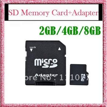 Free Shipping New 2GB 4GB 8GB Micro SD MicroSD TF Memory Card +SD Card Adapter 2G 4G 8G 2 4 8 GB,  Wholesale