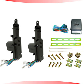 hot seling central lock system ,black motor header,2 five wire actuators,working with car alarm,free shipping,CE passed!CD-CL55B