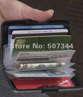 Min 2pcs Aluminum Wallet Credit Card Holder Change folder