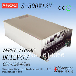 500W 12V40A single output switching power supply 12V 40A 110VAC INPUT(China (Mainland))